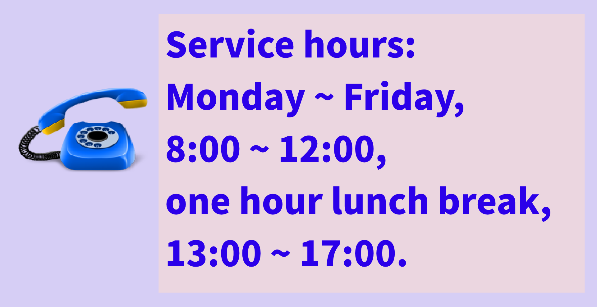 Services Hours
